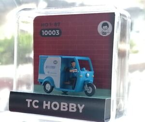 China Motor Rickshaw courier figures in HO-scale 1:87 (1pcs/pack) 3 versions