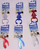 NEW Trespass Key Ring Lobster Piranha Silver Red Blue Survival Outdoor Company