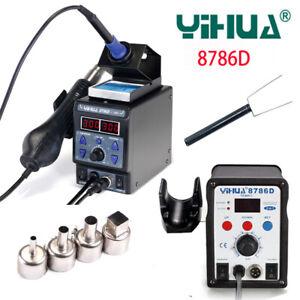 YIHUA 8786D I 2 In 1 BGA Rework Station Soldering Iron Hot Air Gun Repair Tools