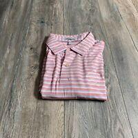 Peter Millar Crown Sport Summer Comfort Men's  Striped Golf Polo Shirt Size L