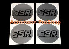 "4x 2.2"" 5.5cm 55mm SSR cap decal sticker center wheel alloy hub rim sp1 type c f"