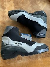 Fischer Xc Comfort Ski Boots Cross Country Black Silver Size 47