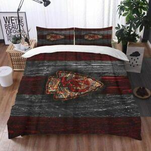 Kansas City Chiefs Bedding Set 3PCS Comforter Cover Pillowcases Duvet Covers