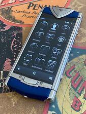 Genuine Vertu Constellation Touch Brushed Aluminum Blue Calf Super RARE GSM $1