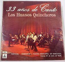 *-Vinyl-LP - 33 anos de CANTO - Los HUASOS Quincheros -FESTIVAL Theatro SANTIAGO