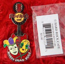 Hard Rock Cafe Pin ORLANDO Red MARDI GRAS MASKS GUITAR Gibson SG lapel florida