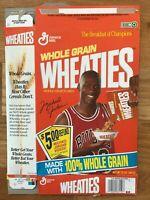 Michael JORDAN 1991 Medium sized Wheaties Cereal Box - NBA - Chicago BULLS - EUC