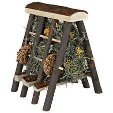 Trixie Natural Snack Hay Rack With Hay And Getreideringen, New