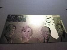 1000 EURO / 24 KARAT GOLD / GOLDFOLIENNOTE GOLDBARREN #4647