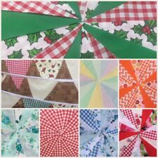 FABRIC BUNTING.WEDDINGS,PARTIES.SHABBY.FLORALS,CHRISTMAS.BIRTHDAYS.3 LENGTHS
