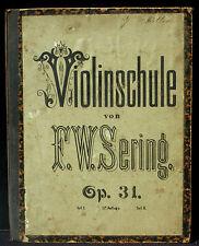 Partition / Score F.W.Sering Violinschule op 31, tampon Gebrüder Hug, Strassburg