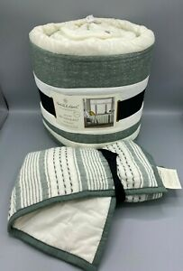 TWIN Hearth & Hand w/ Magnolia Striped Quilt w/1 Sham FREE SHIPPING