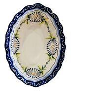 Mexican Talavera Oval Salad bowl Ceramic, Pottery, Handmade