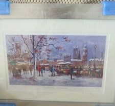 Limited edition print of Winter's Day in Westminster by Henderson Cisz.  Framed