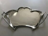 ANTIQUE GERMAN WMF JUGENDSTIL ART NOUVEAU SILVER PLATED BRASS LARGE SERVING TRAY