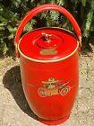 Vintage Loyal Leather Fire Ice Bar Bucket Oradell Fire MCM Manhattan 60's