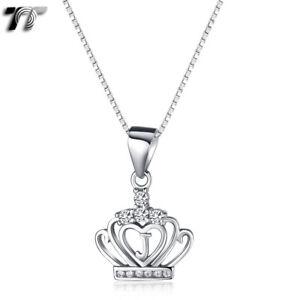 Fashion TT RHODIUM 925 Sterling Silver Crown Letter J Pendant (925N05J) NEW
