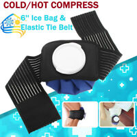 6'' Ice Bag Pack Wrap + Belt Strap Hot Cold Therapy For Knee Elbows Ankles Head