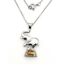 Wish Rings Sterling Silver Elephant Pendant with Necklace