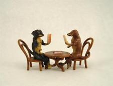 Vienna Bronze DACHSHUND Playing Cards Poker Bermann Austria Dog Brass