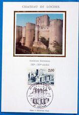 CHATEAU DE LOCHES  FRANCE  CPA Carte Postale Maximum  Yt 2402 C
