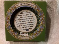 "God Bless our Home 4"" Plate - Irish Weave"