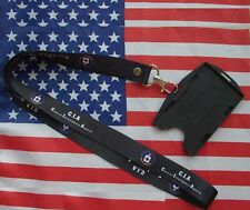 US Dept Of the Central Intelligence Agency CIA ID Card Holder Neck Chian Strap