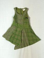 Catimini Dress Girls Size 4 102 cm Green Wool Plaid Dress