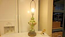 Vintage Porcelain Electric Swirl Table Lamp-3 Nude Cameos-Metal Base-WORKS