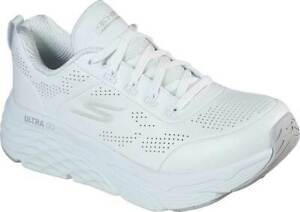 NEW Womens SKECHERS Max Cushioning Elite Step Up White LEATHER Running Shoes