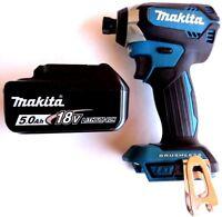"New Makita Brushless 18V XDT13 1/4"" Impact Driver, (1) BL1850B 5.0 AH Battery"