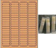 "800- Blank Brown Kraft Labels 1.75"" x 0.5"" Round Corner Rectangle"