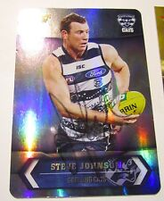 Geelong - Steve Johnson signed 2015 Select Australia Silver Card + Photo Proof