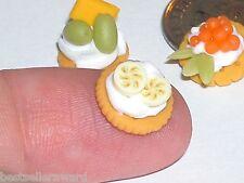 1 Pc Miniature dollhouse tiny Cracker Banana Cream candy food charm New