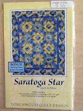 Quilt & Pillow pattern TOUCHWOOD QUILT DESIGN Saratoga Star new