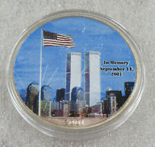 2001 American Silver Eagle * Colorized In Memory of Twin Towers with Box