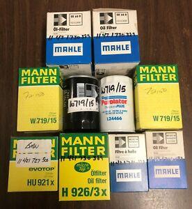 BMW Oil Filter Lot [ Mahle Mann Purolator ]
