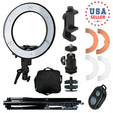 "Dimmable Photography 14"" LED Ring Light Phone Adapter Studio Lighting"