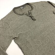 ARMANI EXCHANGE Men's Gray Long Sleeve Henley Waffle Shirt M Medium