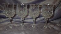 Crystal Cordial Glasses Longchamp pattern by Cristal D'Arques of France 4 1.5oz