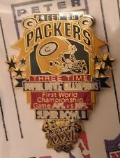 Green Bay Packers 3 Time Super Bowl Champions Pin PDI