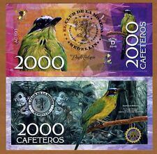 El Club De La Moneda 2000 Cafeteros 2016 (2015) POLYMER UNC> Blue-crowned Motmot