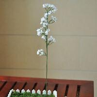 2 Head Romantic Baby Breath Gypsophila Silk Flower Party Wedding Home Decor FY