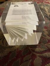 vtg Wall Street 1983 M&A Prospectus Coldwell Banker Paperweight Berg Enteprises