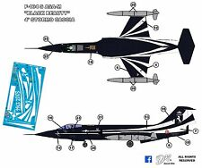 "F-104 decal 1:72 special color 4° stormo caccia ""Black Beauty"""