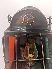 Brass Hand Held Ship Nautical Maritime Oil Lamp Lantern Hanging Lamp Kerosene