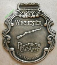 Winchester Repeating Arms Watch Fob Silver Plated Antiqued Patina