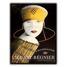 CHAMPAGNE LIEBART REGNIER METAL SIGN WALL PLAQUE Vintage Advert Bar Decor Print