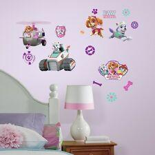 PAW PATROL SKYE Girl Pups 30 Peel & Stick Wall Decals Girls Puppy Room Stickers