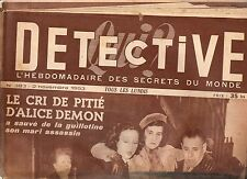 DETECTIVE n°383 alice demon douai  / 1953